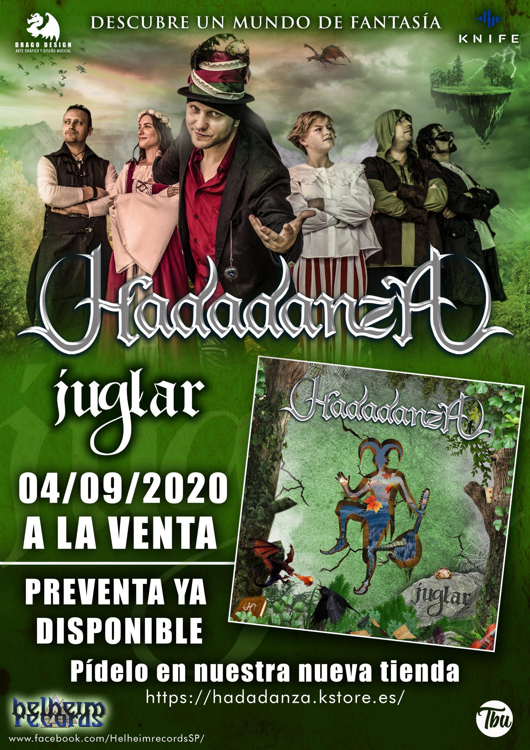 FOLK METAL ROCK - 4 DE SEPTIEMBRE ¡»JUGLAR» A LA VENTA!